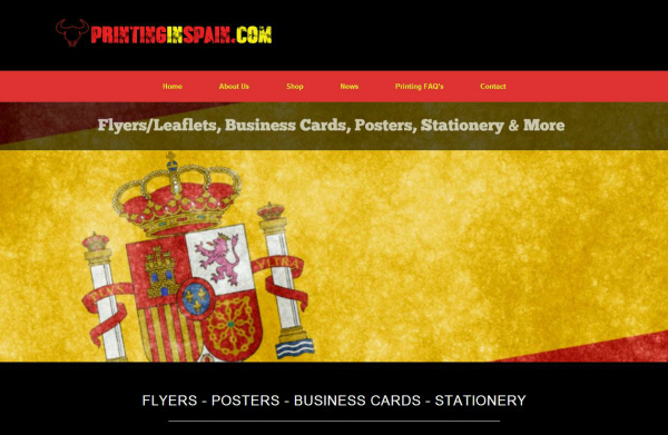 Printing In Spain Website Design By SNAP! Marketing East Anglia