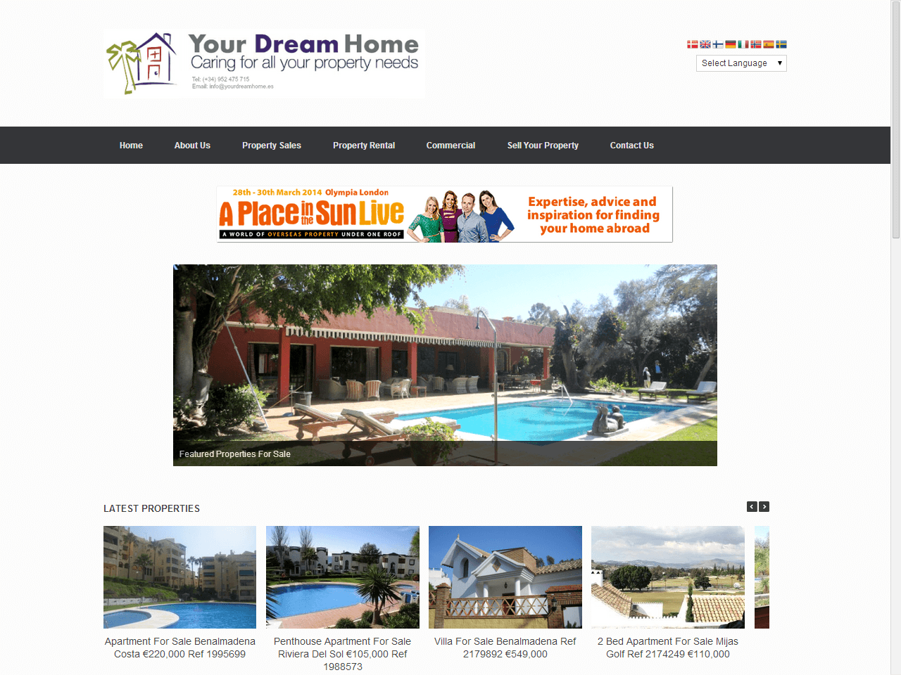 Spanish Real Estate Website Design PPC & Email Campaign